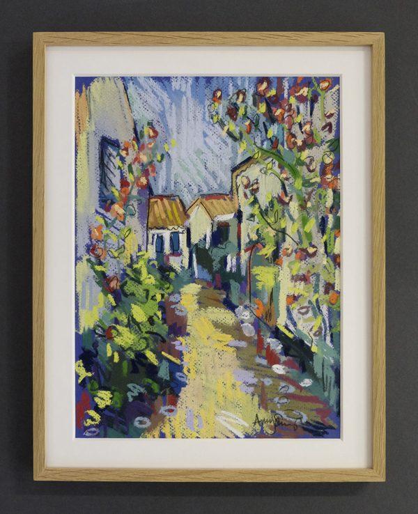 Ile de Re backstreet (hollyhocks) - £285
