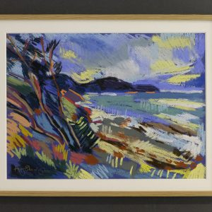 Irish sea with trees -£350