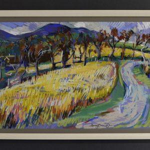 Purple hills late summer - £575