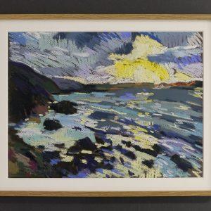 Winter sunset at Tregardock -£350